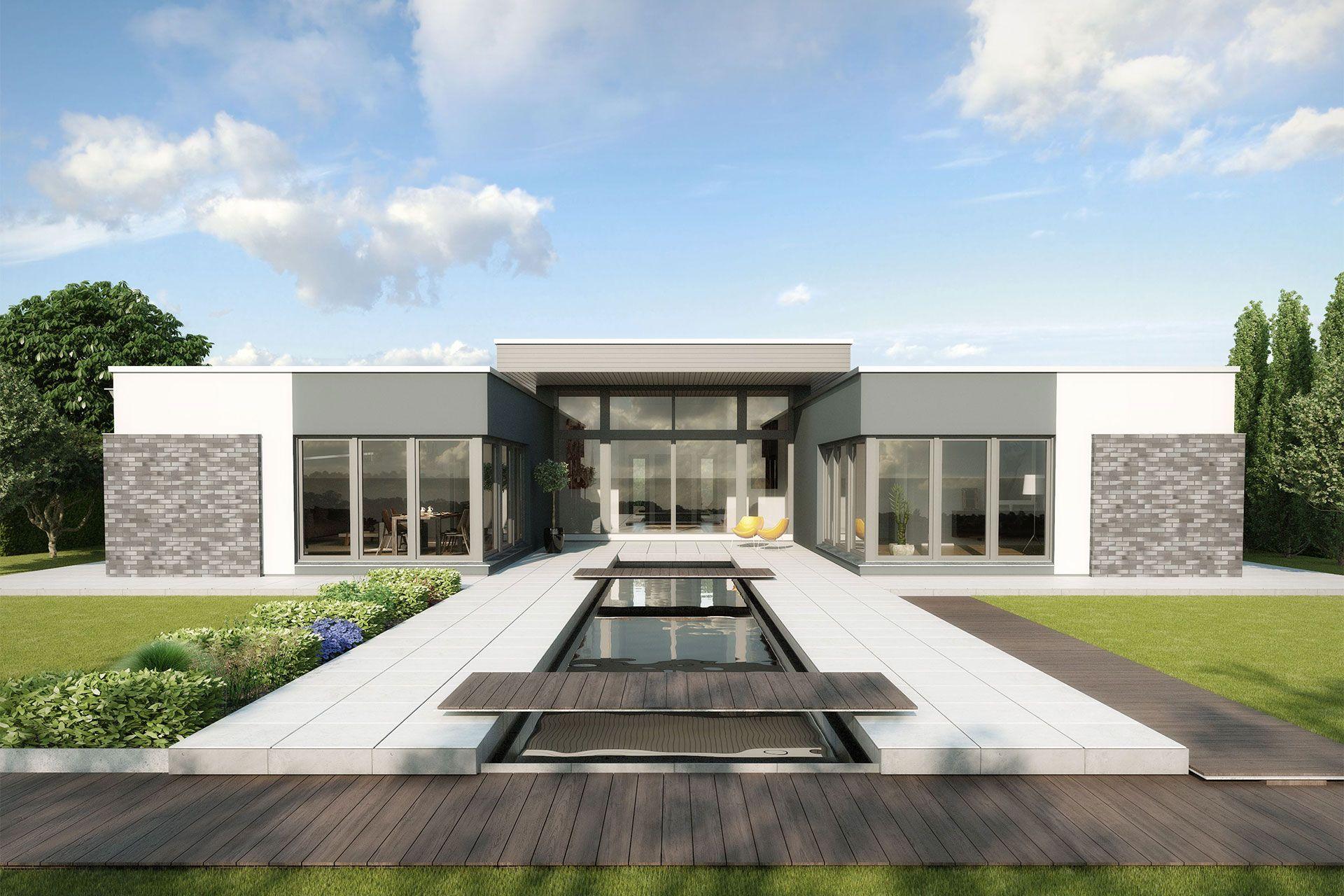 Grundriss einfamilienhaus modern ebenerdig  Bungalow | Alternative Grundrisse | Pinterest | Barrierefrei ...