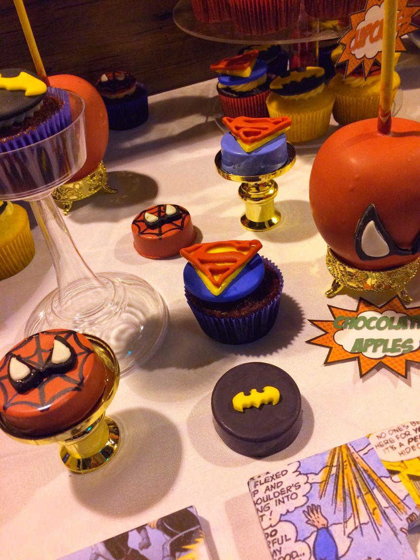 Superhero (Spiderman, Superman & Batman) themed treats for dessert ...