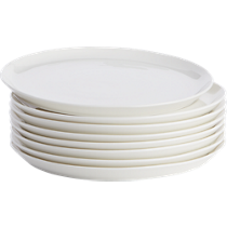 contact white dinner plates set of eight