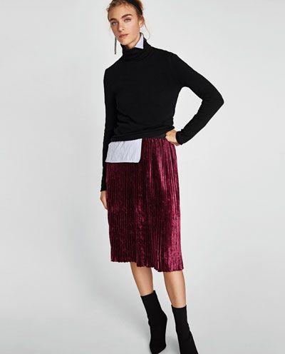e18c62e48 Vestido vivos estampado animal | All about Zara ♡ | Plisado, Faldas ...