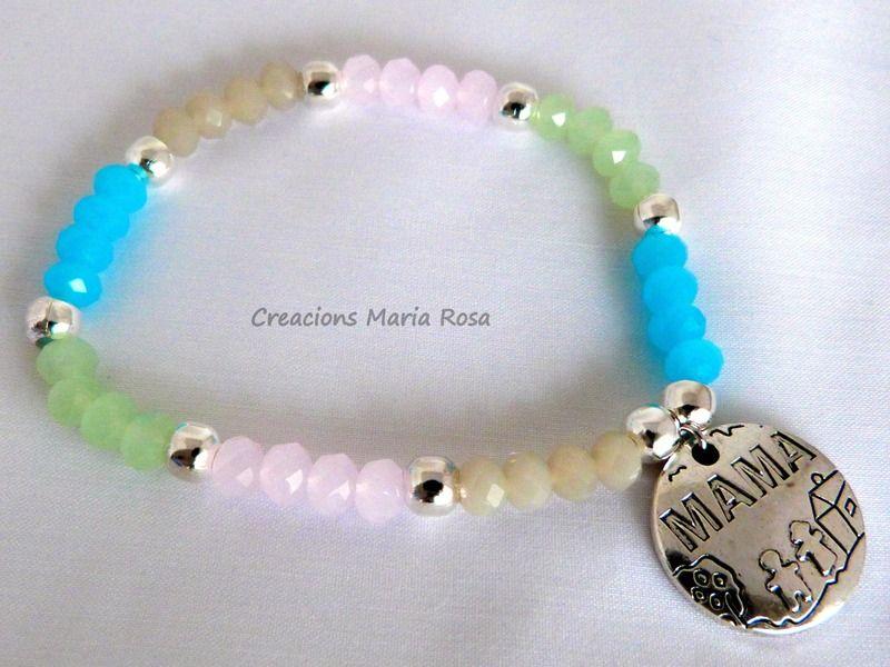 Pulsera de cristal - Mama- de Creacions Maria Rosa por DaWanda.com