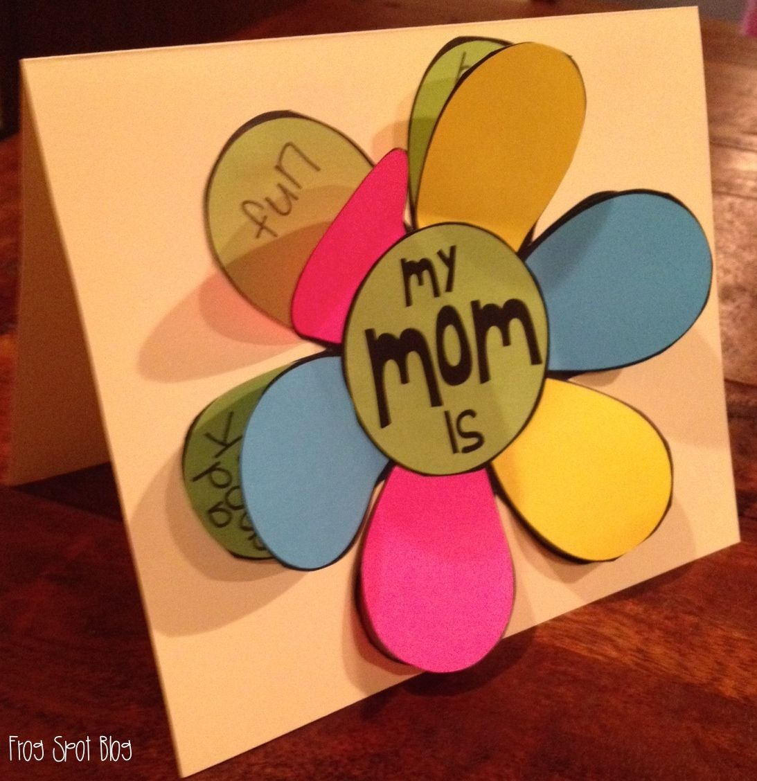 Motherus day card a flip the flap flower card for mom and mum