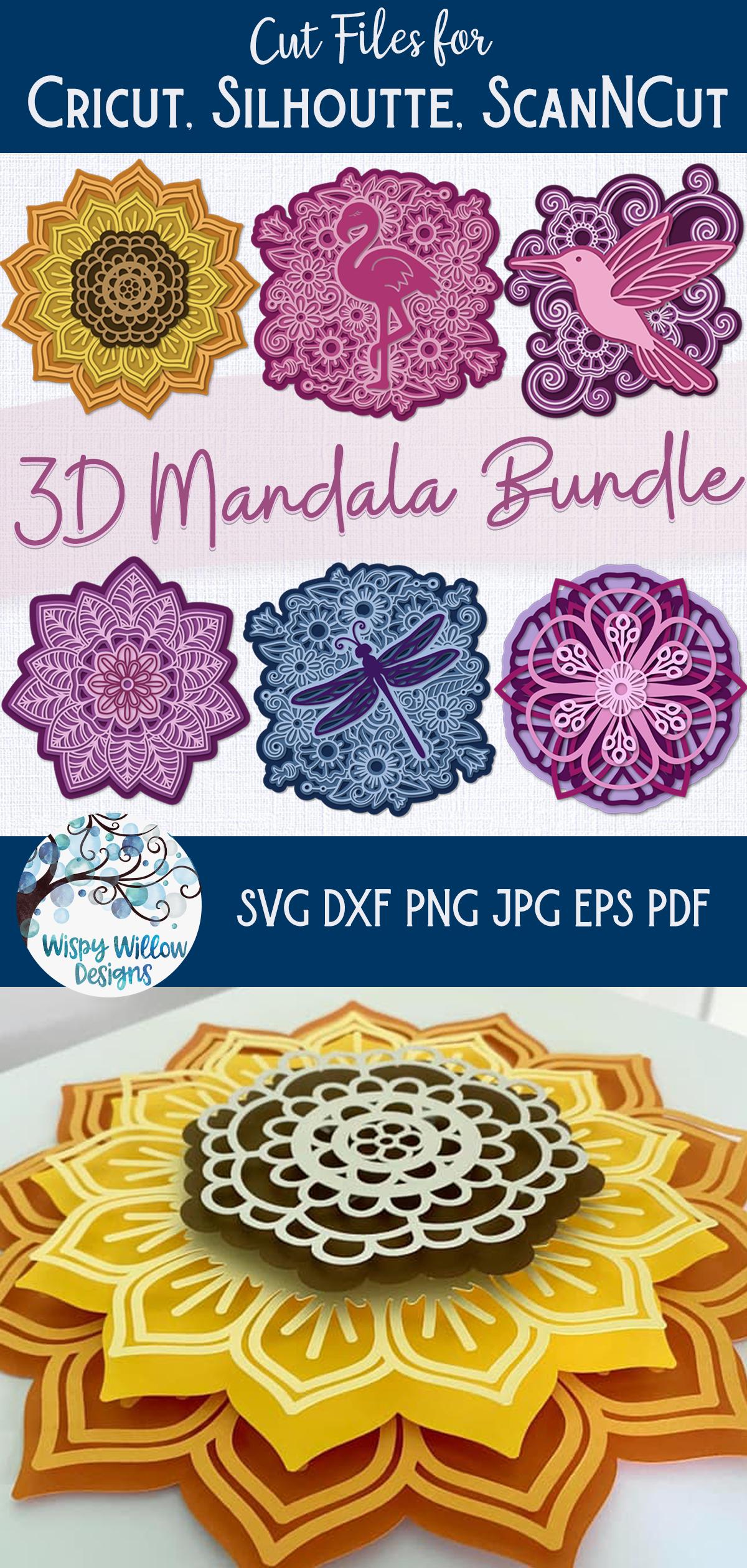 Download 3D Mandala SVG Bundle | Layered Mandalas in 2020 | Mandala ...