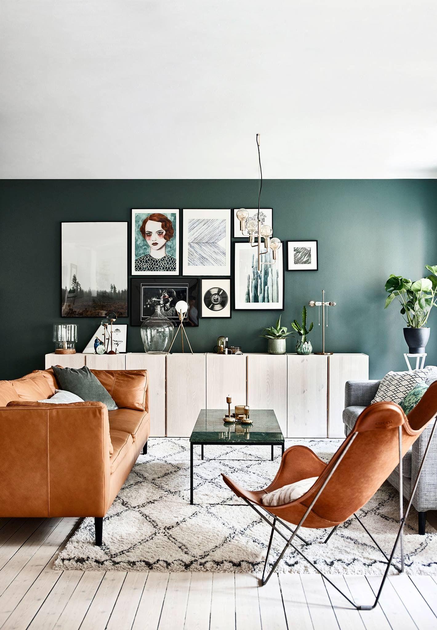 interieur donkergroen oranje en wit, warme kleurencombinatie | Home ...