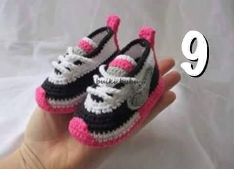 Crochet Sneakers Inspired by Nike handmade by BUBUCrochet