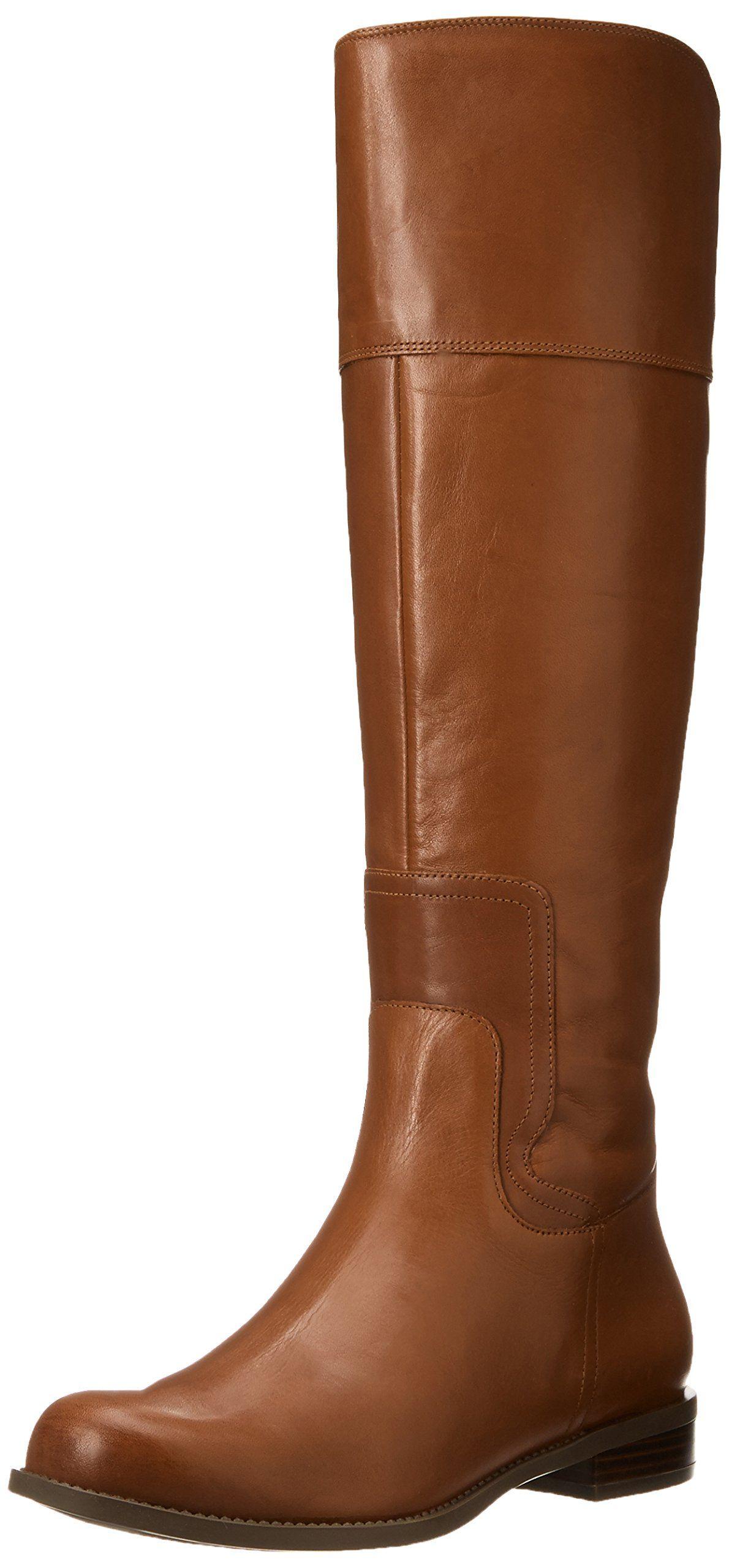 Amazon.com: Nine West Women's Cromie Riding Boot,Dark Natural ...
