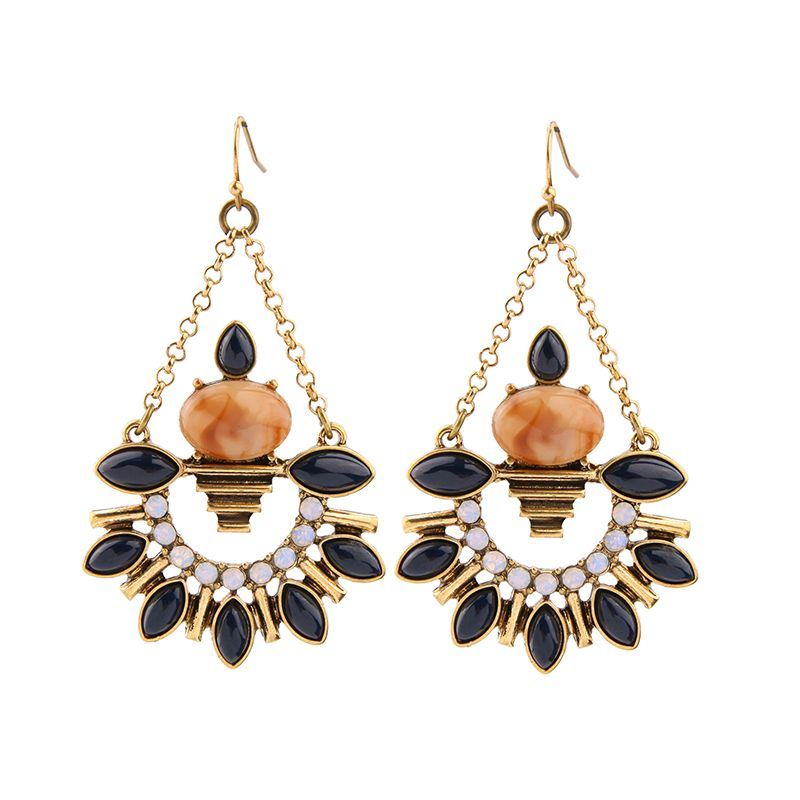 Fashion indian jewelry women vintage chandelier earrings resin gem fashion indian jewelry women vintage chandelier earrings resin gem pendant hook earrings wholesale indian fashion aloadofball Images