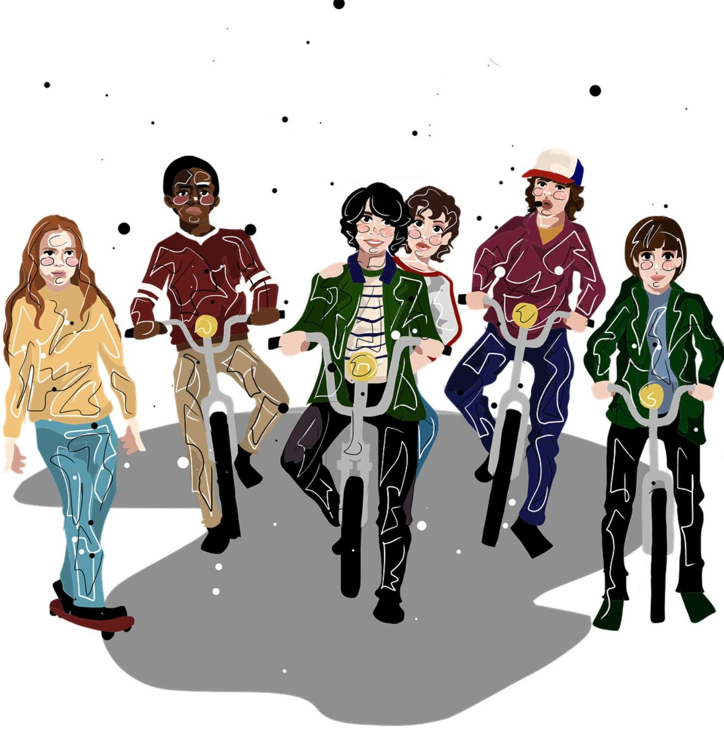 The Party Https Www Instagram Com Castixell Stranger Things Fanart Stranger Things Art Stranger Things Halloween Costume