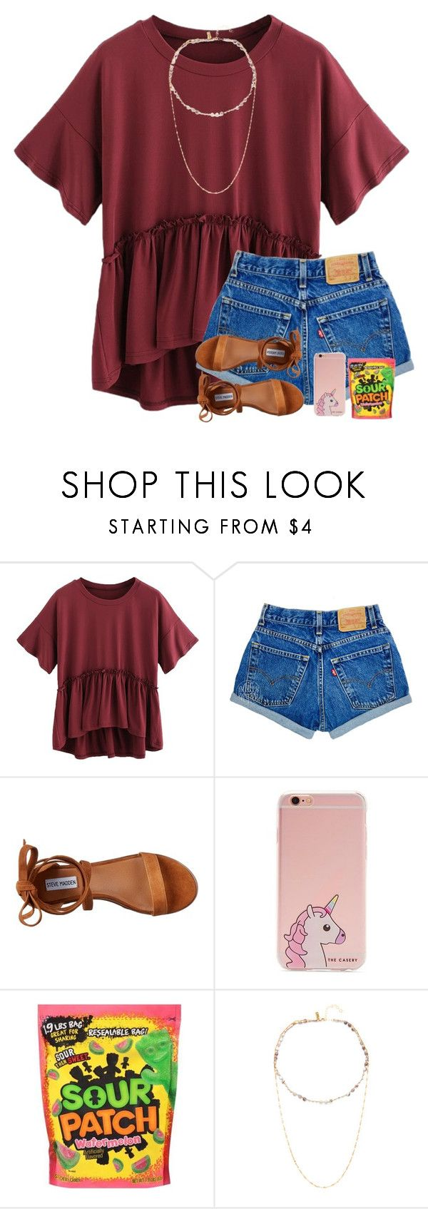 """""""It's a chicken noodle soup kinda night 🍜"""" by kaitlynbug1226 ❤ liked on Polyvore featuring Steve Madden, Forever 21 and Native Gem"""