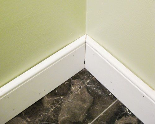 Bathroom Renovation How To Install Baseboards Trim Young House Love Baseboard Styles Baseboards Baseboard Trim