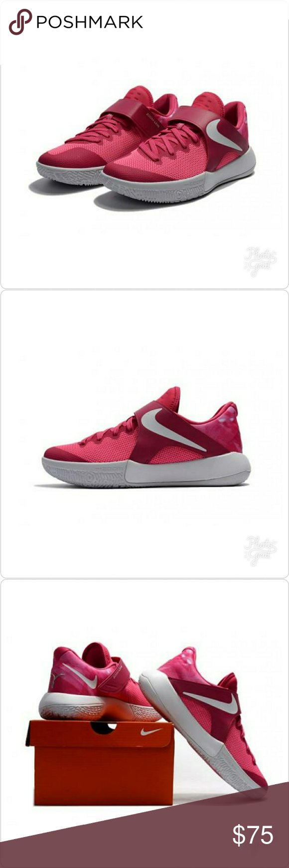 cf632720ce1b NIKE ZOOM LIVE NIKE ZOOM LIVE 2017 EP vivid pink white men basketball shoes Kay  yow Breast cancer Men US 9.5  UK 8.5  Euro 43  27.5cm Nike Shoes Sneakers