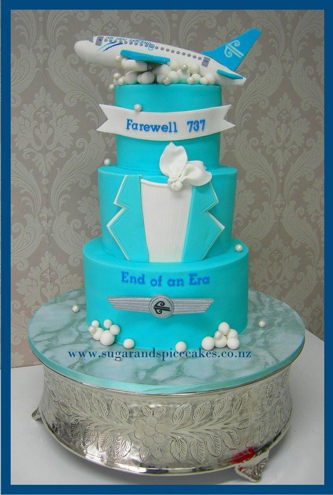 Air New Zealand 737 Farewell Cake http//www