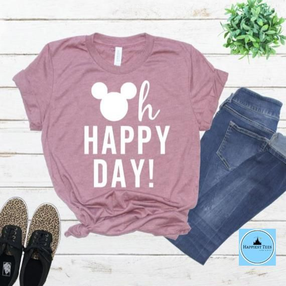 Oh Happy Day Disney Shirt -Mickey and Minnie Shirt – Disney Family Shirts – Disney Matching Shirts –