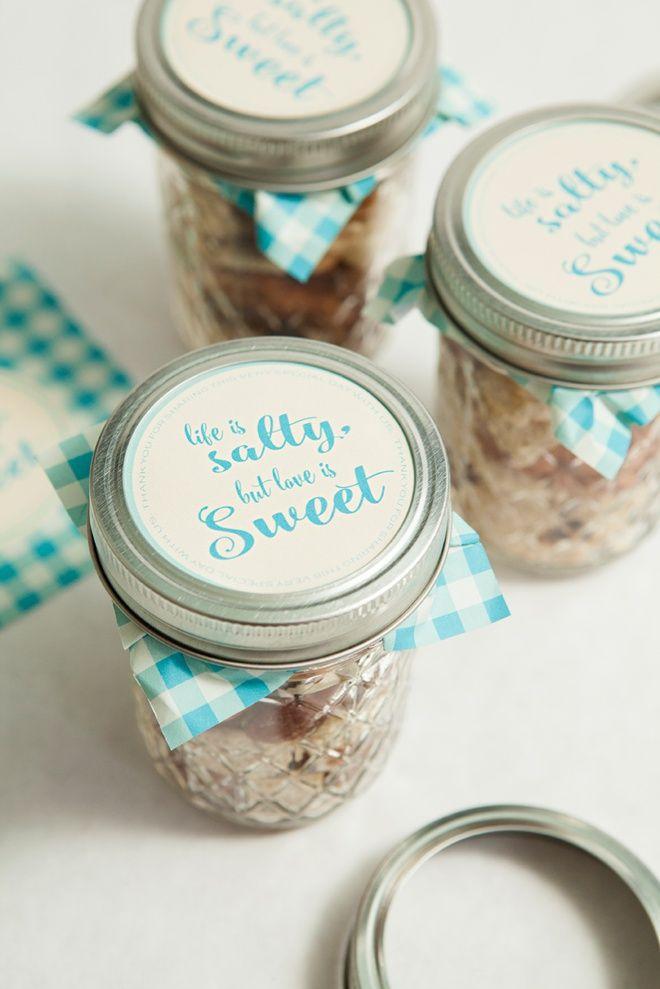 Make Your Own Mason Jar Trail Mix Wedding Favors Diy Wedding