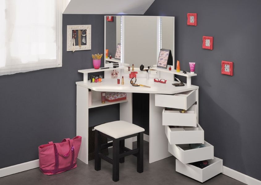 Parisot Corner Beauty Bar   Dressing Tables   Bedroom Furniture   Furniture