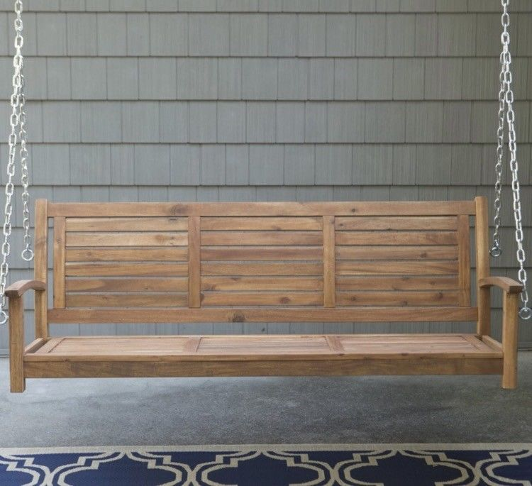 Sensational Backyard Swing Seat Front Porch Wooden Chair 2 Person For Alphanode Cool Chair Designs And Ideas Alphanodeonline