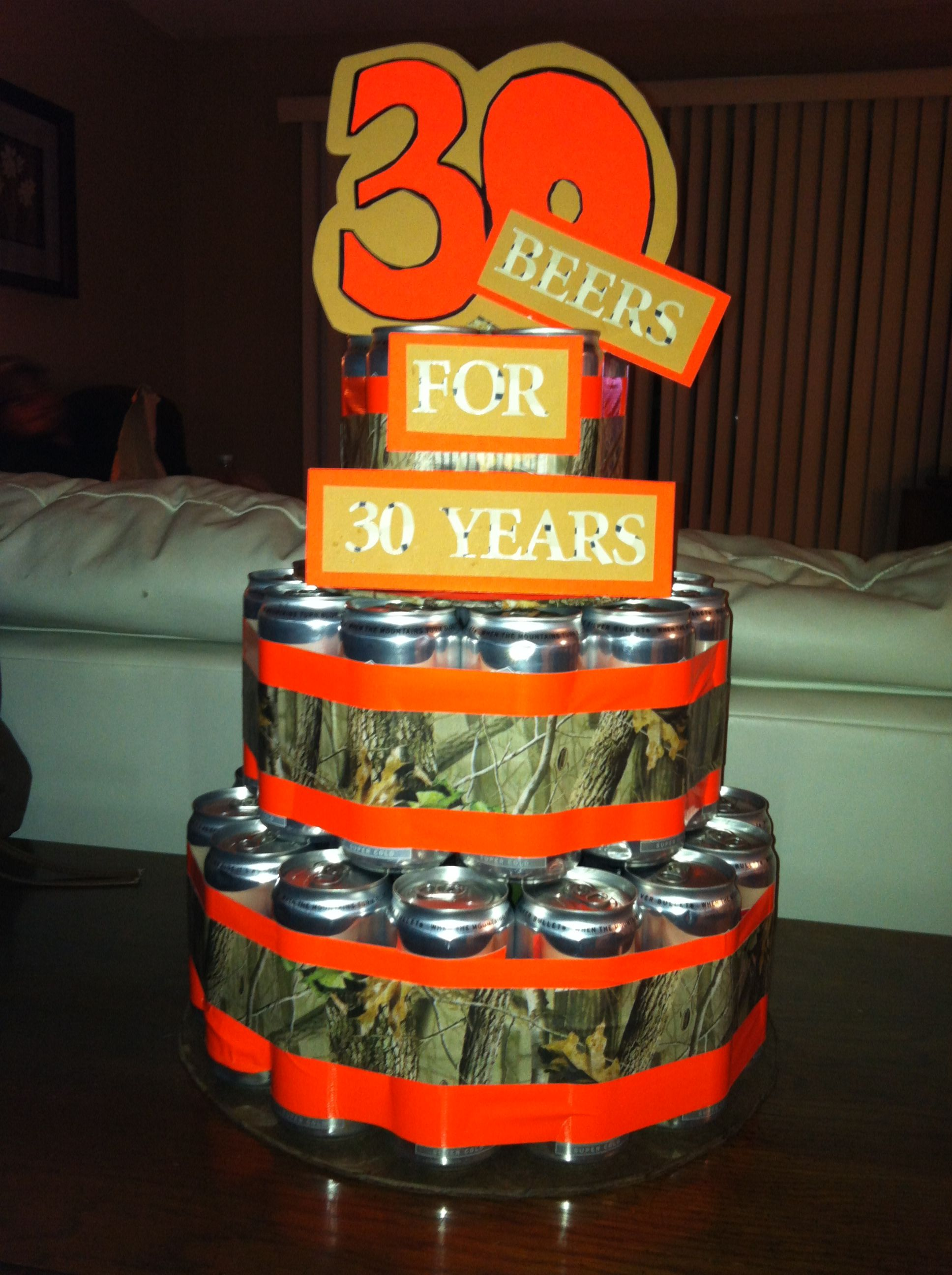 30th Birthday Beer Can Cake For Him Made By Me My