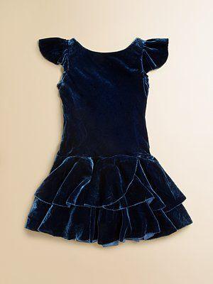 8717bc0f2b Ralph Lauren - Toddler s   Little Girl s Velvet Dress - Saks.com ...