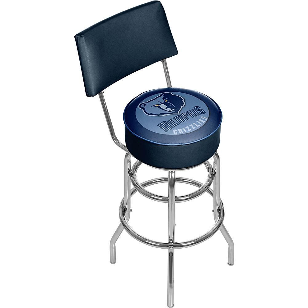 Trademark Global, Inc. Memphis Grizzlies Padded Swivel Bar Stool with Back