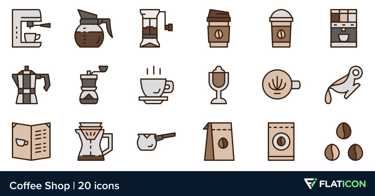20 Premium Vector Icons Of Coffee Shop Designed By Berkahicon Coffee Shop Design Shop Design Coffee Shop