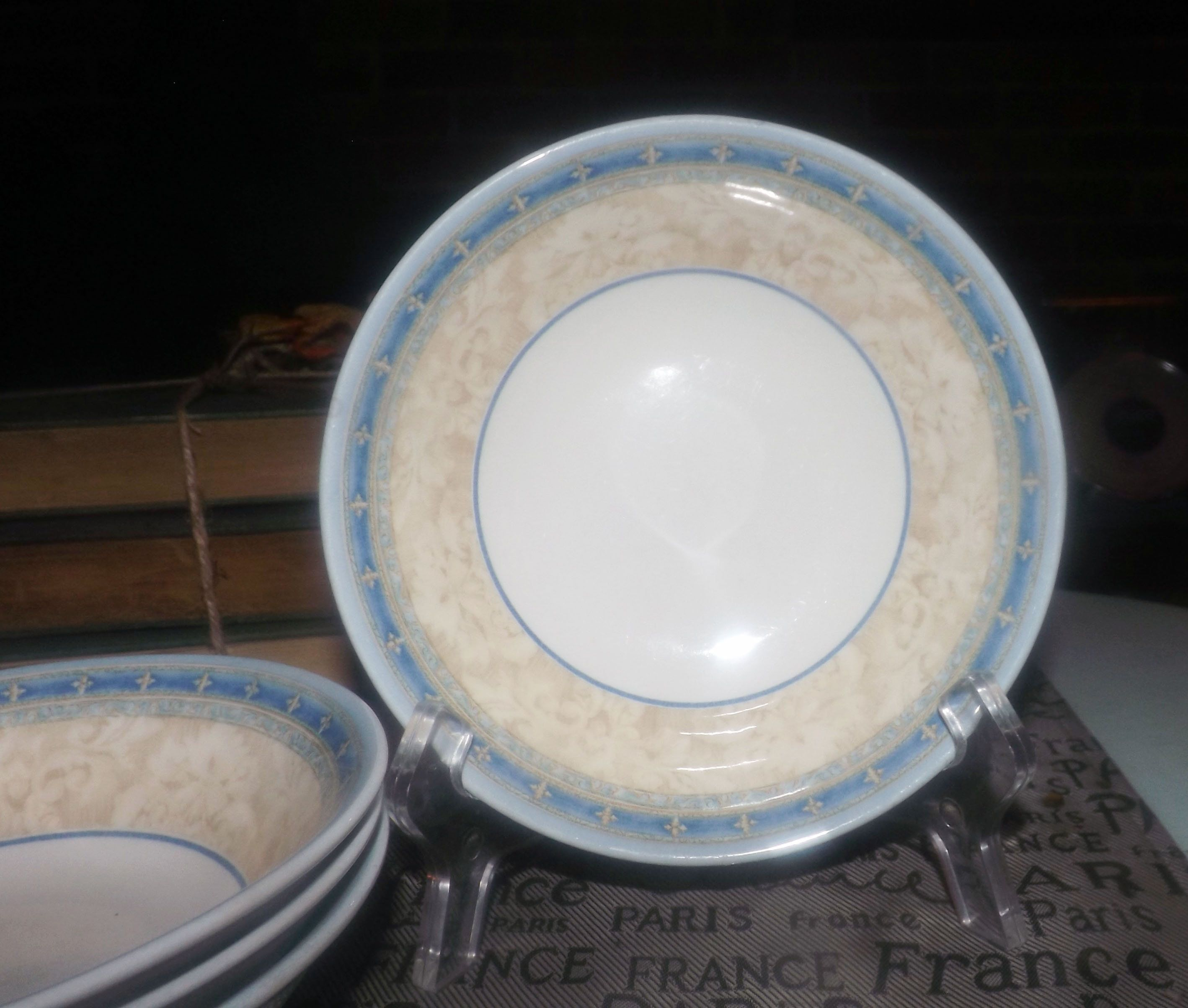 Churchill China Prague Cereal Soup Or Salad Bowl Jeff Banks Ports Of Call Series Yellow Blue Beige Green Made In England Bowl China Salad Bowls