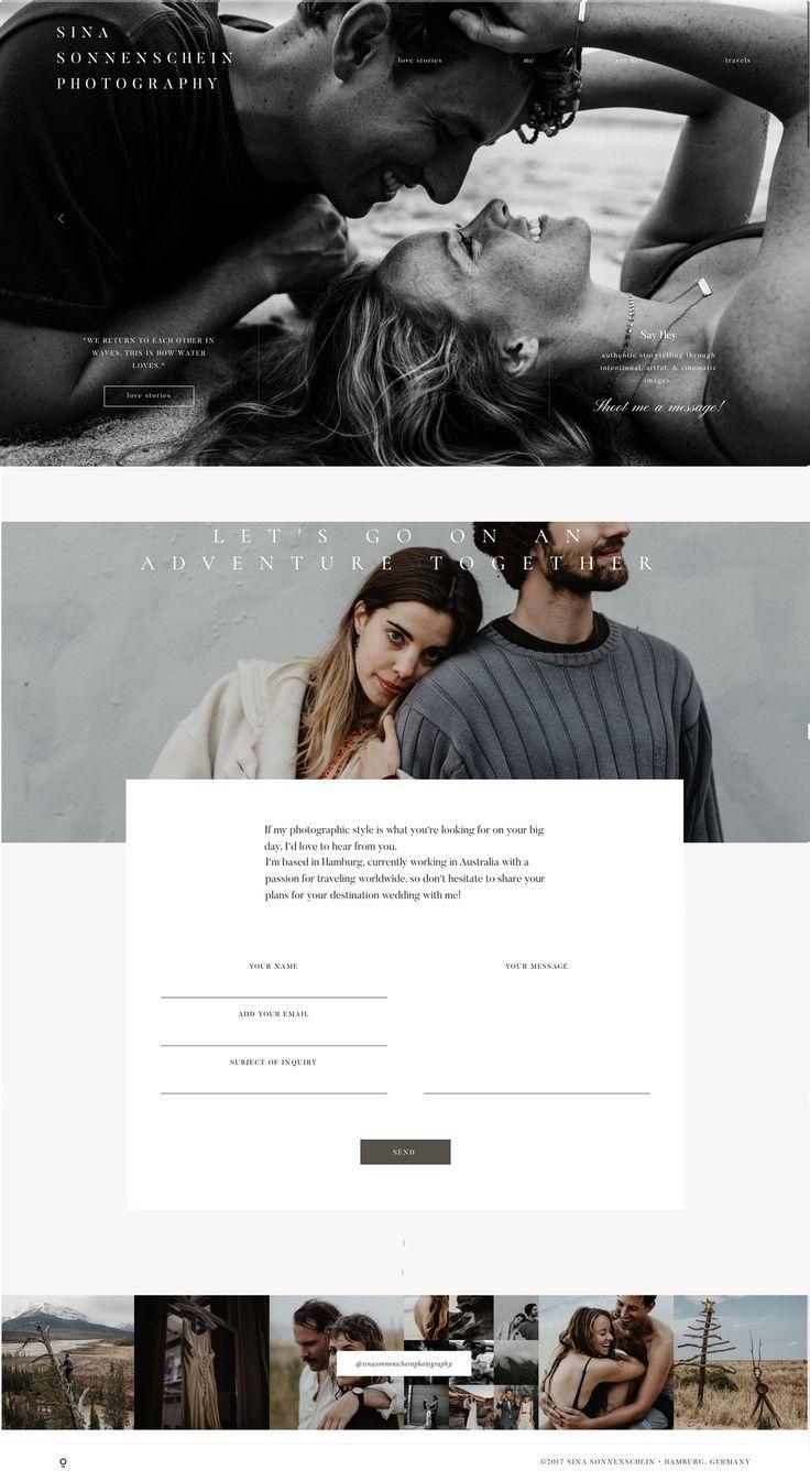 Wedding Photography Websites Inspiration: Sina Sonnenschein Photography, Website Design Based On