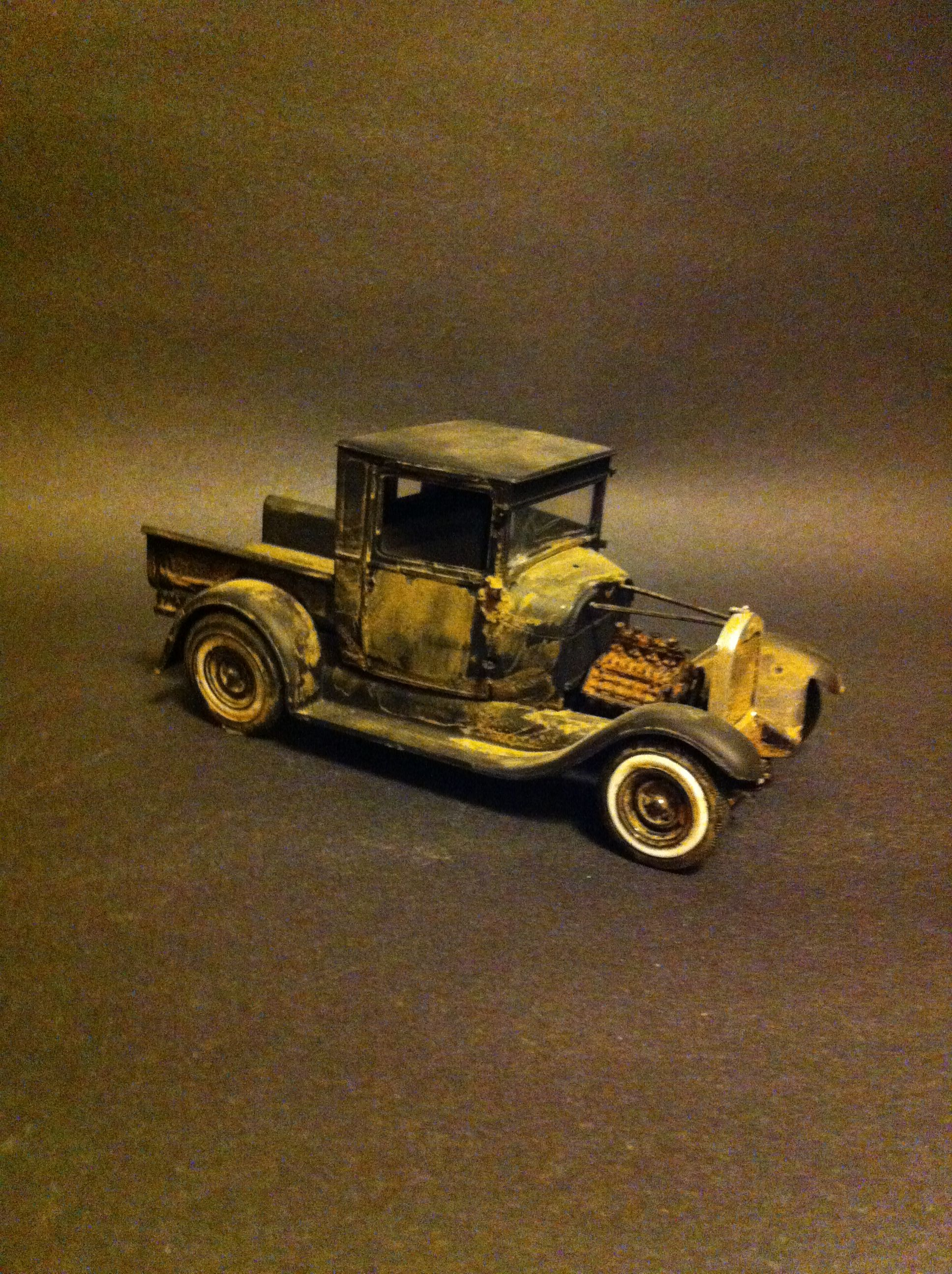 29 Ford Pickup Barn Find Model Car