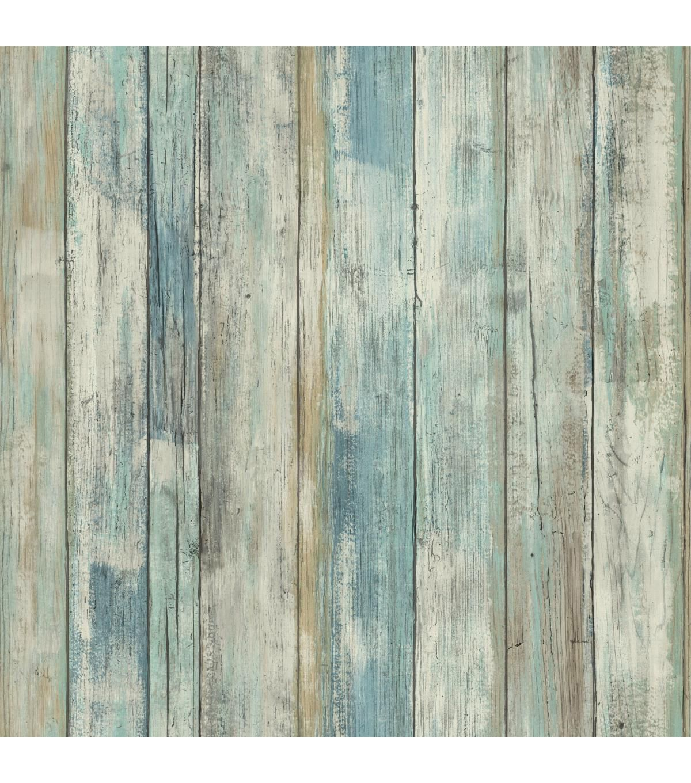 York Wallcoverings Wallpaper Blue Distressed Wood Joann Distressed Wood Wallpaper How To Distress Wood Wood Wallpaper