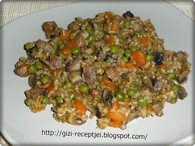 Gizi-receptjei. Várok mindenkit.: Csirkezúzás-gombás-zöldséges rizottó.