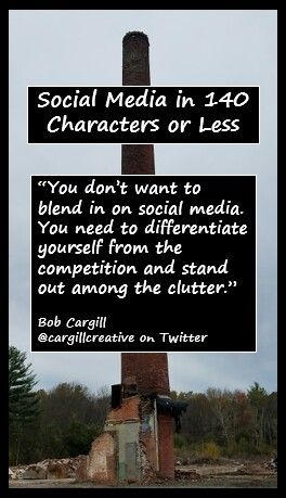 You don't want to blend in on #SocialMedia. You need to differentiate yourself from the competition and stand out among the clutter.