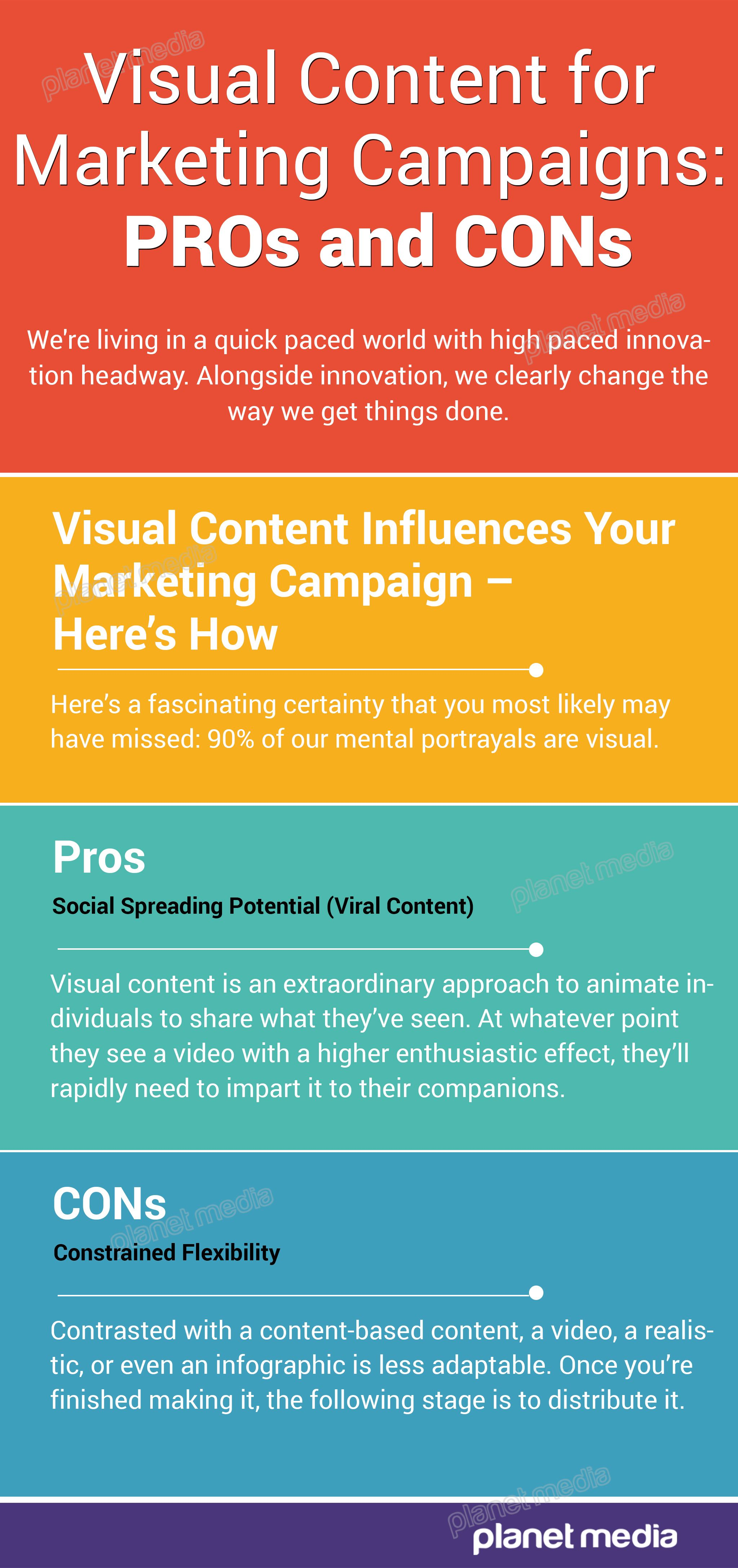 Visual Content for Marketing Campaigns: PROs and CONs We're