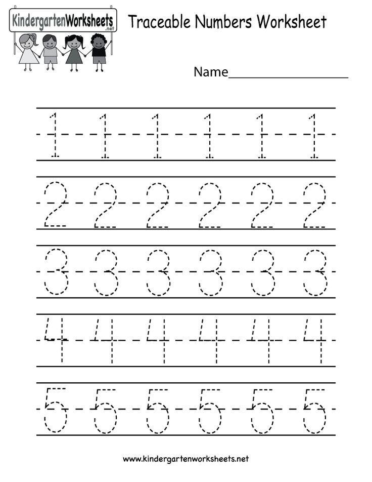 Kindergarten Traceable Numbers Worksheet Printable Number Worksheets Kindergarten Numbers Preschool Number Worksheets Kindergarten worksheets net