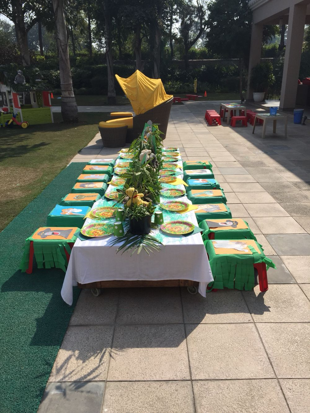 Set The Table Book Inayas Jungle Book Birthday Party Table Set Up Inayas 2nd