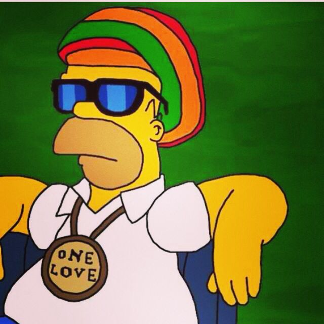 Image result for homer simpson rasta