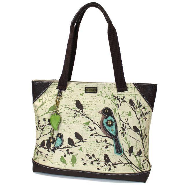 New Chala Handbag Carryall Zip Tote Canvas Large Bag gift LLAMA Olive Stripes