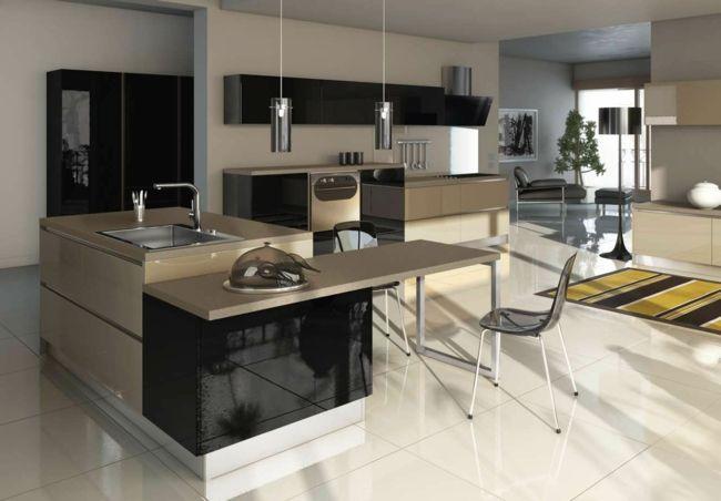 farbige hochglanz kuchen, farbige hochglanz küchen für einen individuellen wohnstil #einen, Design ideen