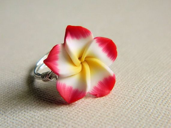 Polymer Clay Rose Ring