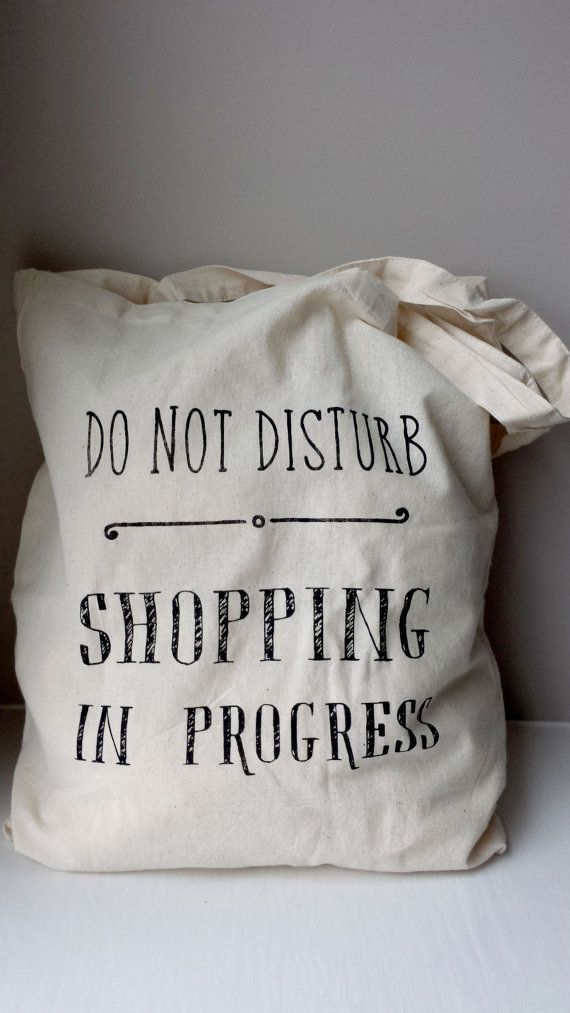Cotton tote bag shopping quote do not