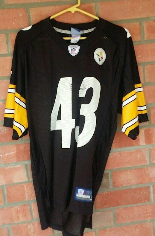 NFL STEELERS JERSEY REEBOK PITTSBURGH POLAMALU #43 SIZE M MEN  #Reebok #PittsburghSteelers