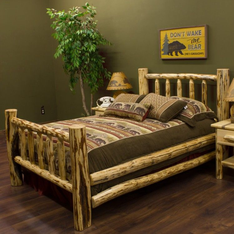 Montana Classic Spindle Log Bed by Montana Woodworks ...