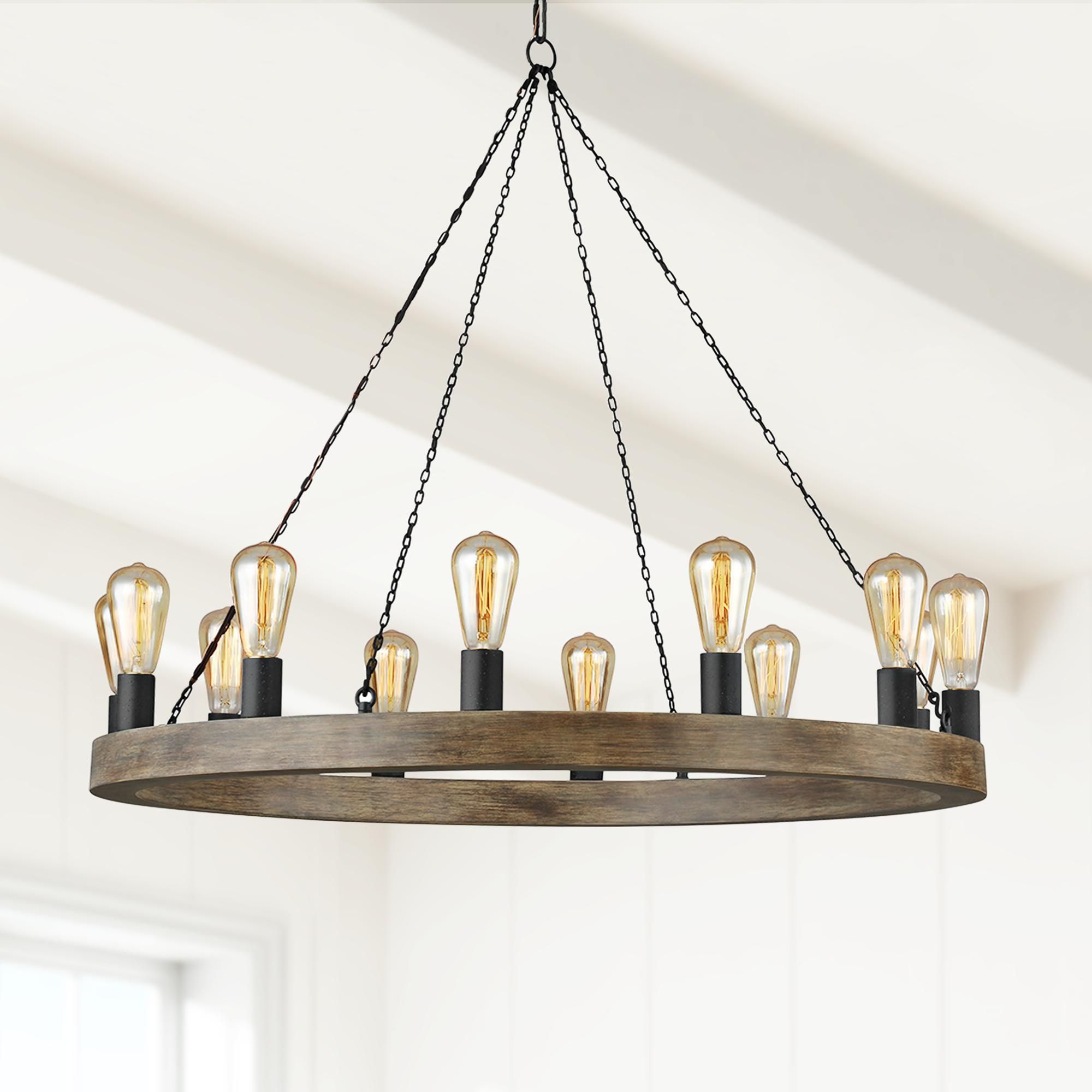 Chandeliers Feiss Avenir 36 Wide 12 Light Weathered Oak Wood Chandelier Wood Chandelier Weathered Oak Chandelier