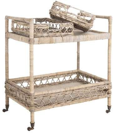 Wondrous Safavieh Ambrose 2 Tier Nautical Rattan Bar Cart With Ibusinesslaw Wood Chair Design Ideas Ibusinesslaworg