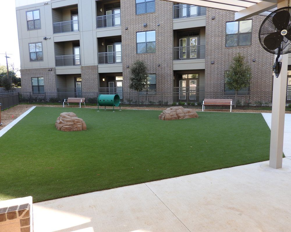 artificial grass airdrain drainage installation for k9 turf area