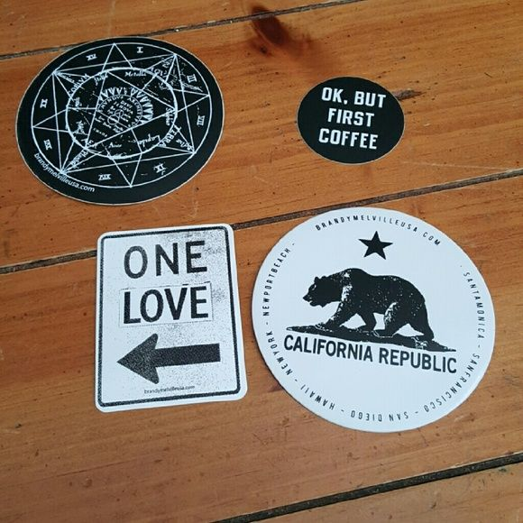 Brandy Melville four stickers new bonus sticker Brandy Melville stickers 4 plus…