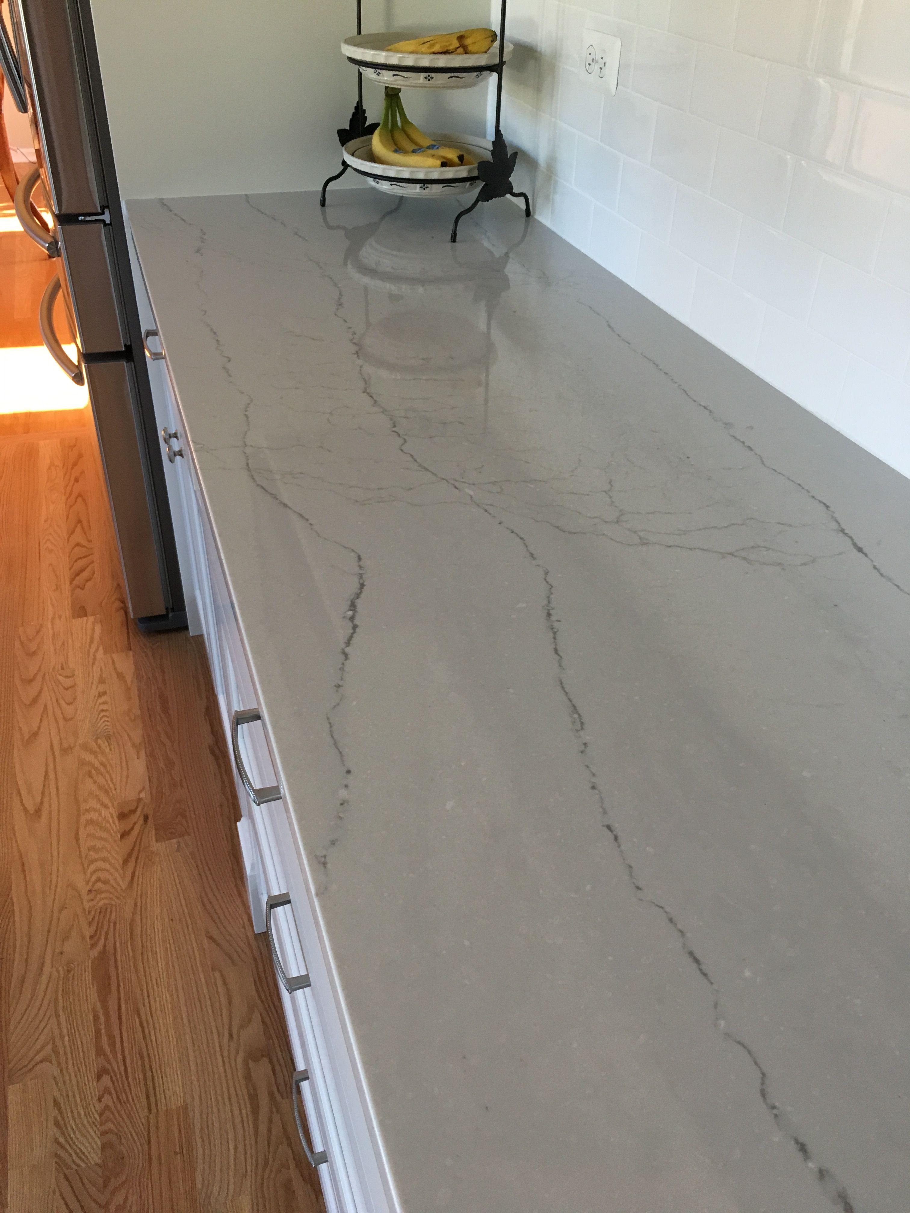 Beautiful Cambria Ella For White Kitchen With White Subway Tile