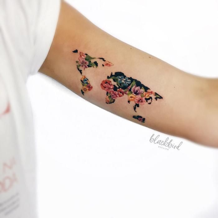 33 nature inspired illustrative tattoos by luiza oliveira map 33 nature inspired illustrative tattoos by luiza oliveira tattoobloq gumiabroncs Images