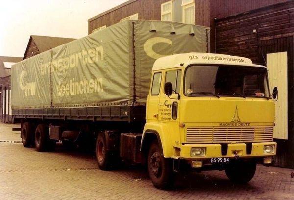 Magirus Deutz Gtw Nostalgie Oude Trucks Vintage Vrachtwagens Vrachtauto