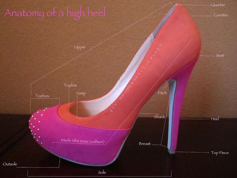 For the Love of Fashion: The Anatomy of a High Heel | Clothing ...
