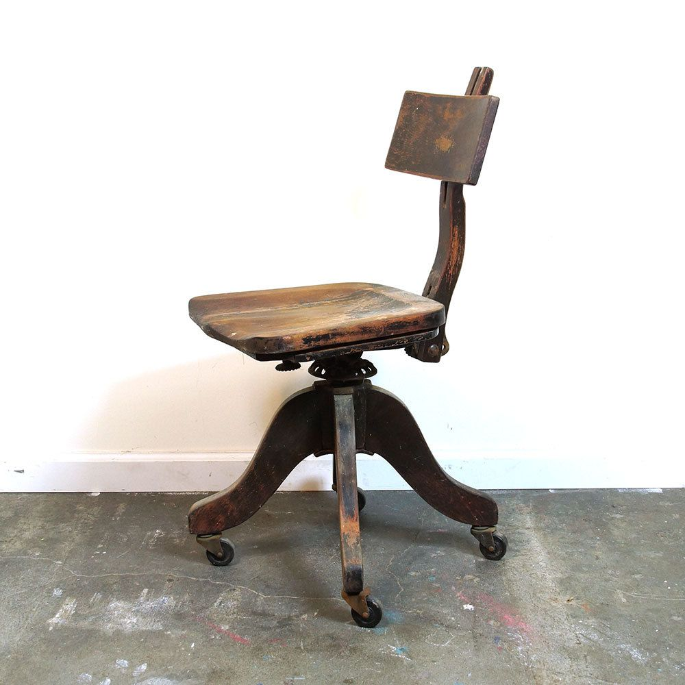 1800s Industrial Swivel Desk Chair Antique Stenographers Wooden Office Chair Victorian Office Furni Wooden Office Chair Swivel Chair Desk Wood Office Chair