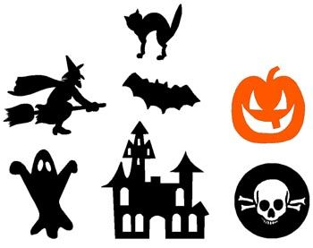 silhouettes d couper halloween pinterest silhouettes halloween et activit. Black Bedroom Furniture Sets. Home Design Ideas